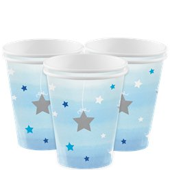 One Little Star Boy Cups - 256ml Paper Party Cups