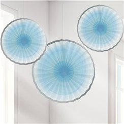 One Little Star Boy Paper Fan Decorations - 31cm