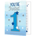 One Little Star Boy Invites - Party Invitation Cards