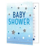 One Little Star Boy Baby Shower Party Invitations