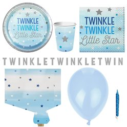One Little Star Blue Party Pack - Deluxe Pack for 8