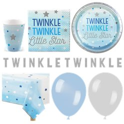 One Little Star Blue Party Pack - Deluxe Pack for 16