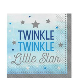 One Little Star Boy Napkins - 33cm