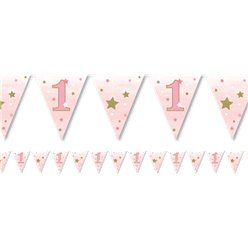 One Little Star Girl Paper Bunting
