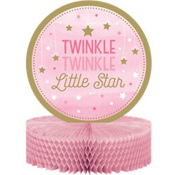 One Little Star Girl Honeycomb Table Centrepiece - 31cm