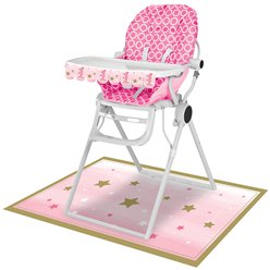 One Little Star Girl High Chair Kit