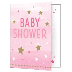 One Little Star Girl Baby Shower Party Invitations