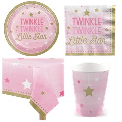 One Little Star Pink Party Pack - Value Pack for 8