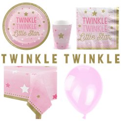 One Little Star Pink Party Pack - Deluxe Pack for 8