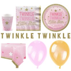One Little Star Pink Party Pack - Deluxe Pack for 16