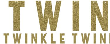 One Little Star Girl Gold Glitter Twinkle Letter Banner - 1.5m