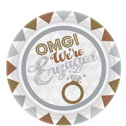 OMG Engagement Plates - 23cm Paper Party Plates