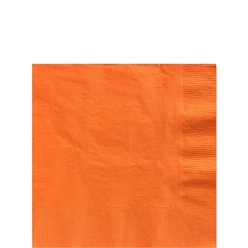 Orange Beverage Paper Napkins - 25cm 2ply