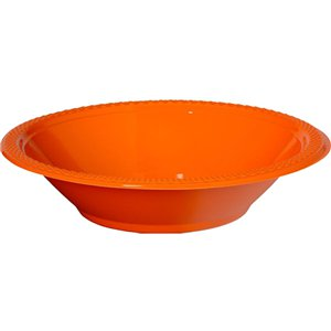 Orange Party Plastic Bowls - 355ml