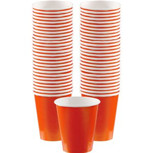 Orange Coffee Cups - 340ml Paper Cups