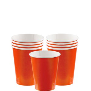 Orange Party Pack For 8 People - Value Pack For 8