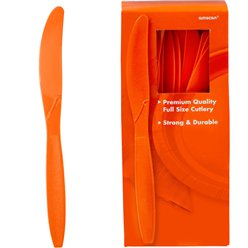 Orange Reusable Knives - 100pk