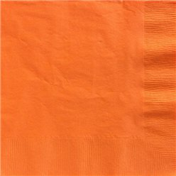 Orange Paper Dinner Napkins - 40cm 2ply