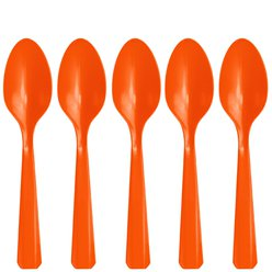 Orange Plastic Spoons