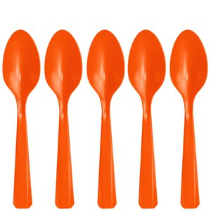 Orange Reusable Spoons - 20pk