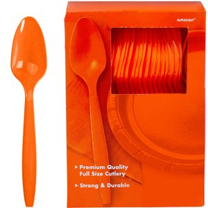 Orange Reusable Spoons - 100pk