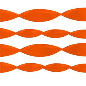 Jumbo Orange Crepe Paper Streamer - 152m