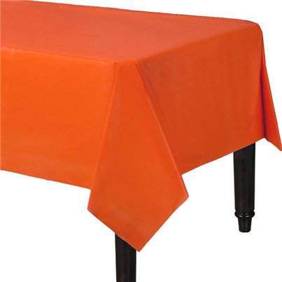 Orange Plastic Tablecover - 1.4m x 2.8m