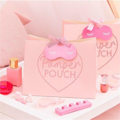 Pamper Party Pink Glitter Pamper Pouch Bags