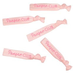 Pamper Party Pink Glitter Wrist Bands
