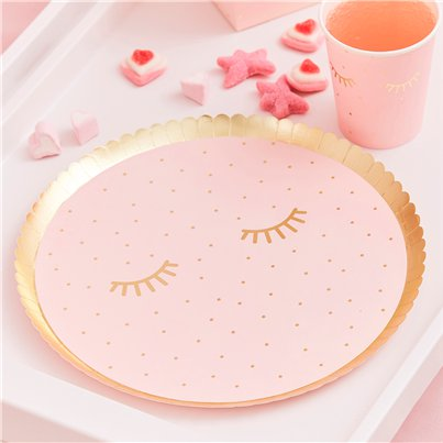 Pamper Party Pink Paper Plates - 21cm