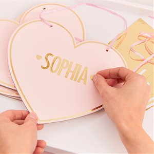 Pamper Party Pink Customisable Heart Sign - 22cm
