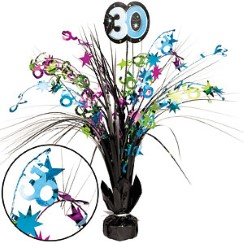 30th Birthday Spray Centrepiece - Table Decoration