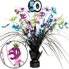 50th Birthday Spray Centrepiece - Table Decoration