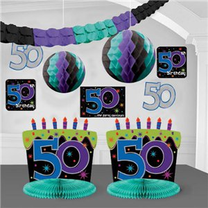 50th birthday decorating kit for 50th birthday decoration packs