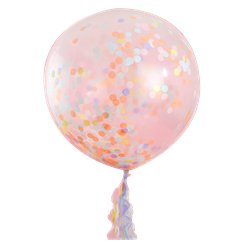 "Giant Pastel Confetti Balloons - 36"" Latex"