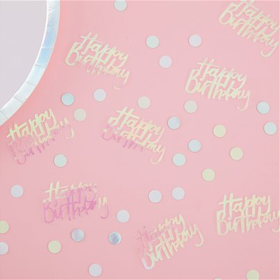 Pearlescent Happy Birthday Confetti