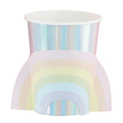 Iridescent Rainbow Paper Cups - 255ml