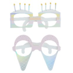Iridescent Pastel Party Glasses