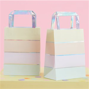 Iridescent Pastel Paper Party Bags