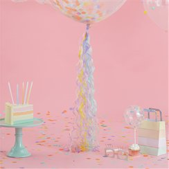 Pastel Curly Balloon Tail - 80cm