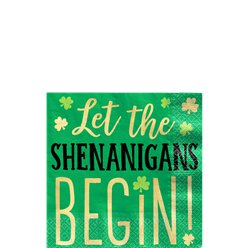 Let the Shenanigans Begin Beverage Napkins - 25cm