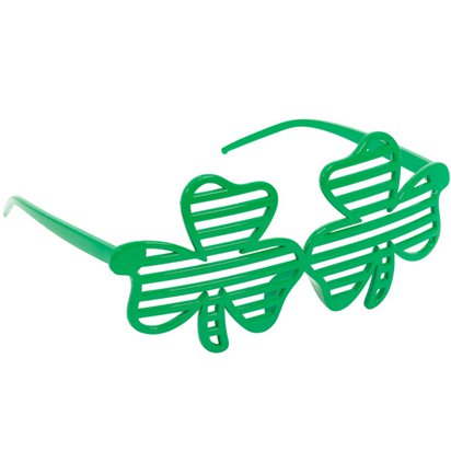 Shamrock Irish Shutter Glasses - St Patrick's Day Accessories front