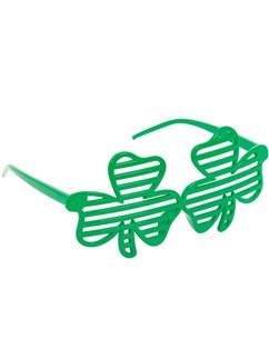 St Patrick's Day Shamrock Shutter Glasses