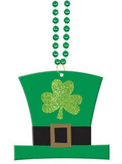 St Patrick's Day Hat Pendant Necklace