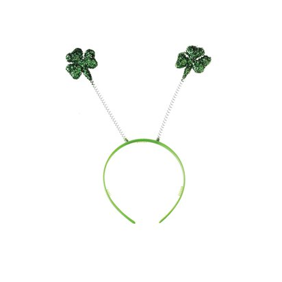 Glitter Shamrock Irish Leprechaun Headband - St Patrick's Day Boppers  pla