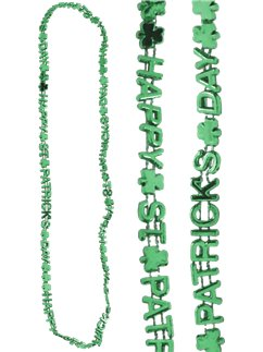 St Patrick's Day Shamrock Letter Necklace