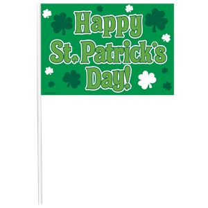 'Happy St Patrick's Day' Multipack Flags - 26cm