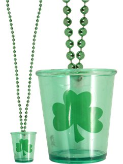 St Patrick's Day Shot Glass Necklace - 80cm