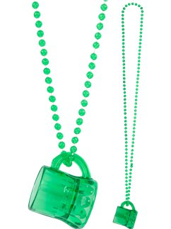 St Patrick's Day Mini Beer Necklace
