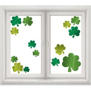St Patrick's Day Glitter Shamrock Window Decorations - 45cm